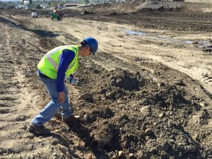 TRG engineer conducting environmental assessment
